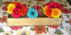 Reclaimed Unfinished Pallet Wood Planter Box • Mason Jar Centerpiece, Long wood box, Candle Holder, Wedding Centerpiece • 31 inches long by Cozyhandcrafteddecor on Etsy