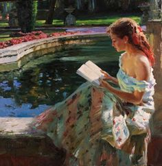 Vladimir Volegov premier art gallery is committed to the philosophy of offering dealer prices to the public on our fine art paintings, and prints. Reading Art, Woman Reading, Vladimir Volegov, Image Avatar, Psy Art, Albrecht Durer, Beautiful Paintings, Oeuvre D'art, Female Art