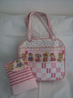 bolsa de maternidade e trocador portatil
