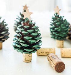 ❤ Karácsonyfák tobozból és parafadugóból - ötlet gyerekeknek ❤Mindy -  kreatív ötletek és dekorációk minden napra
