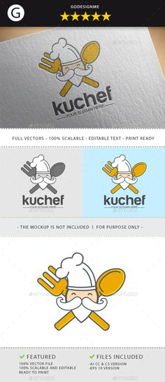 Ku Chef	 Logo Design Template Vector #logotype Download it here: http://graphicriver.net/item/ku-chef/10984007?s_rank=1655?ref=nexion
