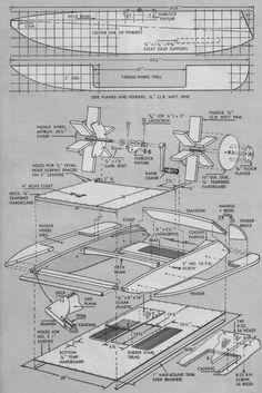 Plywood Boat Plans, Wood Toys Plans, Raft Boat, Pontoon Boat, Make A Boat, Diy Boat, Yacht Design, Boat Design, Power Boats