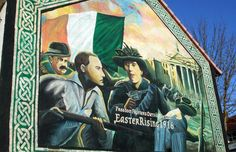 Mural in Belfast City, Co. Belfast Murals, Roisin Dubh, Belfast City, Wall Murals, Wall Art, Banksy, Northern Ireland, Celtic, Irish