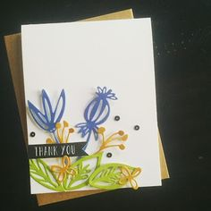 Thank You Card by @createdbylolo. #EllenHutsonLLC #EssentialsbyEllen #WildGarden…