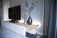 Living Room Wood Floor, Ikea Living Room, Living Room Paint, Ikea Tv, Small Apartment Kitchen, Tv Decor, Home Decor, Ikea Home, Home And Living