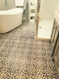 Victorian BampW Mosaic Effect Is A Black And White Pattern