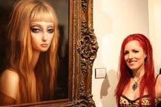 Lori Earley, artist with her art