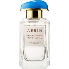 AERIN Mediterranean Honeysuckle (895 SEK) ❤ liked on Polyvore featuring beauty products, fragrance, blossom perfume, flower fragrance and flower perfume