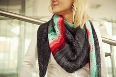 Buccaneer #Shawl by Justyna Lorkowska on ravelry.The shawl is all about fun, colors and staying warm this winter.