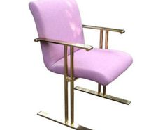 RARE Directional Brass Armchair (Three Available) * NYC DELIVERY!!
