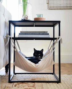 Cat Hammock - Places Like Heaven- Katzen-Hängematte – Places Like Heaven Cat Hammock cat hammock Diy Cat Hammock, Hammock In Bedroom, Hammock Ideas, Hammock Bed, Cat Room, Pet Furniture, Furniture Design, Plywood Furniture, Furniture Stores