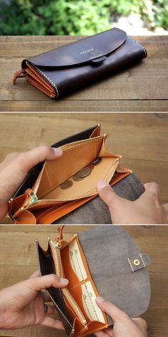 """Leather MXS wallet - Duram Factory - I'm on the hunt for the """"new improved wallet"""" for the  budget wallet - pockets for dividers for each category of monthly spending, using cash..."""