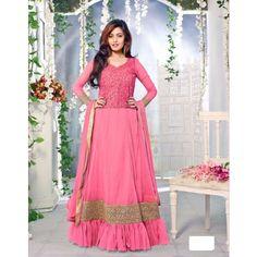 Utsav Designer Pink Heavy Embroidery Anarkali Suit