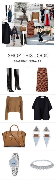 """""""60 Second Style: Best NYFW Street Style"""" by iv-gromova on Polyvore featuring мода, 3.1 Phillip Lim, Emanuel Ungaro, Gucci, Valentino, DKNY, Wolf & Moon, Just Cavalli, Bling Jewelry и women's clothing"""