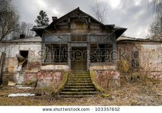 old abandoned haunted house in transylvania