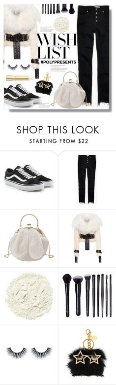 """#PolyPresents: Wish List"" by queenvirgo ❤ liked on Polyvore featuring Vans, Madewell, Monse, Illamasqua, Forever 21, Sophie Hulme, Stila, contestentry and polyPresents"