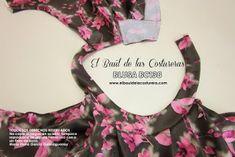 Patrón de costura gratis e instrucciones de confección Blusa cuello halter. Unir costados