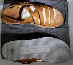 ALEXANDER McQUEEN Zapatos Marrón Ternero Correa Hebilla DUAL Multi-Sandalia 12 45 Nuevo