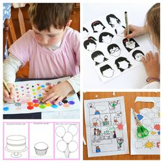 Free Printable Art Activity Pages for Kids