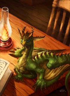 Table Wyvern OMGoodness a bookish dragon, be still my fairytale heart!