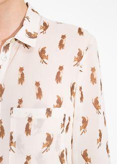 Fox print shirt