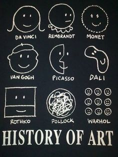 Art history for dummies in doodles! Now it's easier to understand, isn't it?