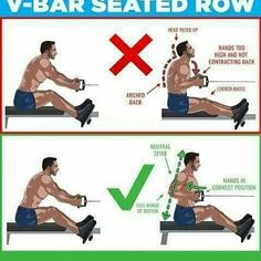 V-Bar seated row exercises