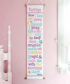Look at this #zulilyfind! Patel Color 'Now I Lay' Personalized Wall Hanging #zulilyfinds