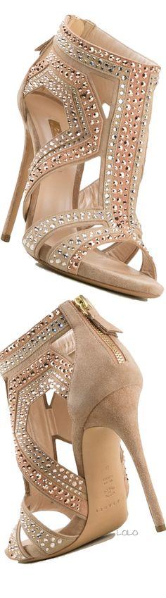 CASADEI Pink Leather Embellished Sandals