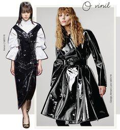 Moda com estilo vintage: tendência do brilho vinil nas passarelas