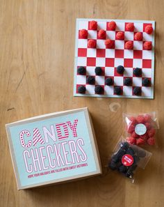 DIY candy checkers ... such a fun gift for a birthday party.