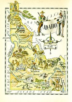 Idaho map | Flickr - Photo Sharing!