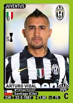 Arturo Vidal Football Stickers, Player Card, Juventus Fc, Football Players, Old Women, Soccer, Baseball Cards, Display Cases, Paninis