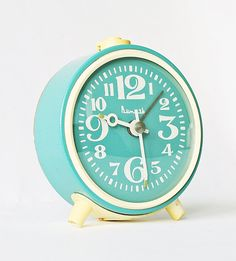 Such a cute vintage alarm clock. From Clockwork Universe on Etsy for $39    I Want This. This is going on my Christmas list mom!