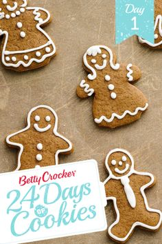 These little gingerbread guys and gals will be the life of your holiday party. And with a batch that yields 108 cookies, there are more than enough to go around. (You may want to set aside a stash for yourself though, just to be safe.) To make the dough ahead of time, just pop it in an airtight container in the fridge for up to 48 hours!