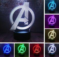 Avengers Logo - 3D Illusion Night Light LED USB