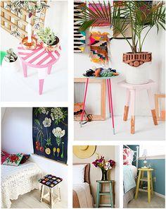 Banquetas decoradas blog Remobilia 2