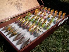 Beautiful collection of classic salmon flies.