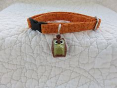 Cat Collar with bell  Cat  Breakaway Collar Custom Made by graciespawprints on Etsy