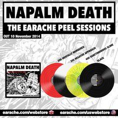 "Napalm Death ""The Earache Peel Sessions"" Ltd Edition Colour Vinyl"