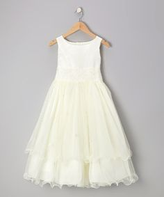 Take a look at this Ivory Tiered A-Line Dress - Infant, Toddler & Girls by Kids Dream on #zulily today!