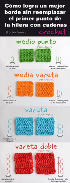 Alternative to the crochet starting chain. Crochet Symbols, Crochet Stitches Patterns, Crochet Chart, Crochet Basics, Love Crochet, Crochet Granny, Crochet Motif, Diy Crochet, Crochet Videos