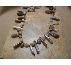 This is a hot new trend -  Sterling Silver and Agate  S42 by ByEJewelry on Etsy, $75.00