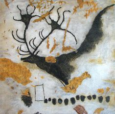 In Lascaux, someone painted a line of dots underneath this magnificently horned Irish elk - Slate Magazine