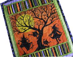 Quilted Wall Hanging in Dancing Witches