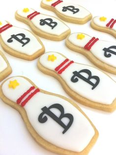 Bowling pin cookies - SunshineBakes.etsy.com