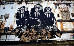 Extraordinary Abandoned Ship Covered In Street Art | So Bad So Good