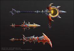 Cataclysm - PVP Weapons 02, Kelvin Tan on ArtStation at http://www.artstation.com/artwork/cataclysm-pvp-weapons-02