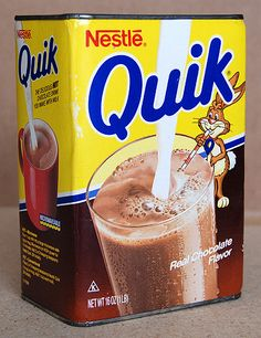 cartoons remember this Nestle Quick--The way it should always be packaged!loved eating it straight outta the can! My Childhood Memories, Sweet Memories, Nestle Chocolate, Nostalgia, Retro Recipes, Branding, Love Eat, Oldies But Goodies, Good Ole