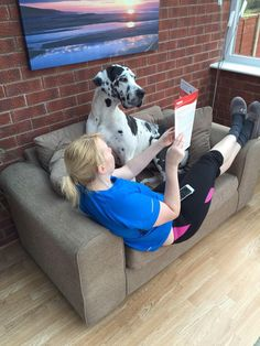 Lilly The Greatdane Helping His Owner Greatdanesareus Read Her Weekend Is Overrug Doctor